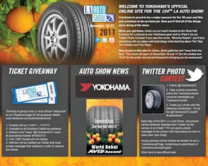 Yokohama: website redesigned a few months before its auto show promotions