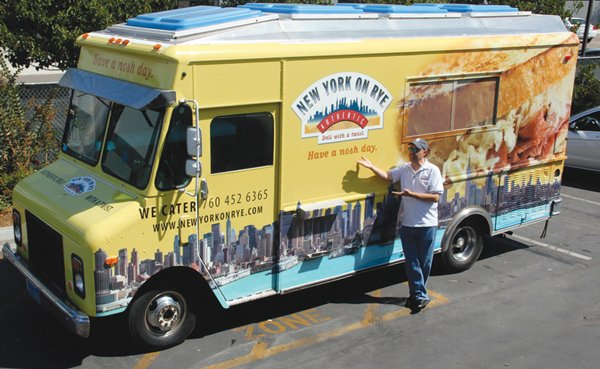 Rich Huarte is a business partner and the chef at New York on Rye, a mobile deli-food truck operated by his Carlsbad company.