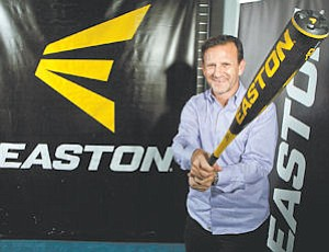 Identity: Chris Zimmerman shows off Easton's yellow and black color scheme.