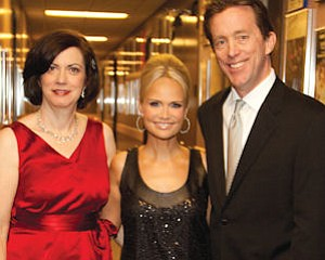 Kristin Chenoweth with Segerstrom President Terrence Dwyer (right) and his wife, Amy