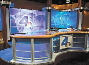 Presentation: The news set has been upgraded with large video walls.
