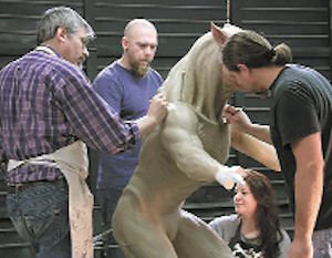 Creature: Effects artists at work.