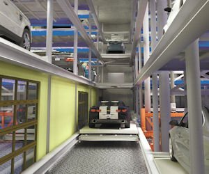 Cars: Automated parking takes up less space.
