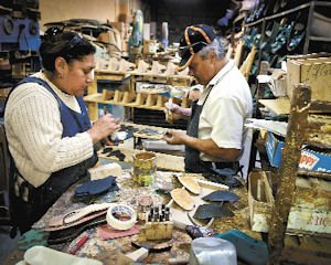 Soles: Martha and Miguel Lazarit work together at Salpy Shoes in Sun Valley.