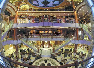 Luxury: The Piazza Atrium adds a social hub to the cruise ship Sapphire Princess.