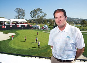 Dennis Baggett is director of the Kia Classic women's professional golf tournament held at the La Costa Resort and Spa during the week of March 19. Sporting events such as this create a positive economic impact on the area that goes beyond hotels and restaurants.