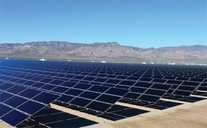 Sempra, which operates this solar farm in Nevada, is building solar and wind generation plants throughout the U.S.
