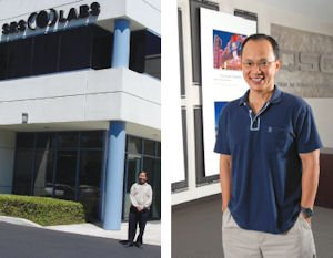 Yuen (left) : bought into SRS Labs in 1994, helped take it public in 1996;   Pham: QSC Audio Products seeing broad growth