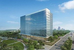 LPL Financial has committed to occupy all 13 floors of a University Towne Center high rise now under construction.