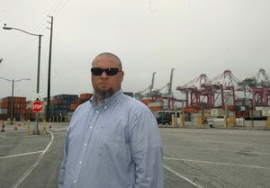 Local 63 President John Fageaux at the Port of Long Beach.