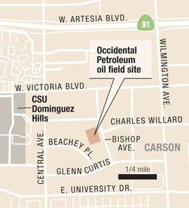 Occidental Petroleum oil field site.