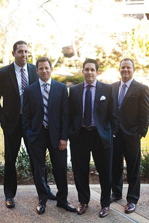 Morgan Stanley Smith Barney – The Bentley Group financial advisers, left to right: Michael Souza, Michael Tedesco, Bryan Gould, and Russell Hall.