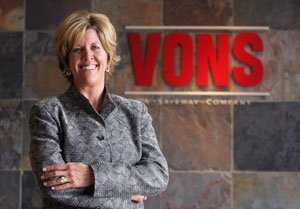 Lori Raya, president of Vons, who oversees Vons and Pavilions grocery stores, at Vons headquarters in Arcadia.