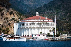 Catalina Casino as seen from the island's harbor.