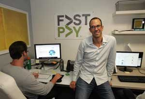 FastPay CEO Jed Simon at the Beverly Hills lending company.