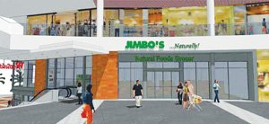 Jimbo's upcoming store at Westfield Horton Plaza will have specially equipped elevators and escalators to accommodate grocery carts.