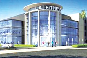 Home-grown: rendering of 45,000-square-foot LA Fitness gym under construction at Park Place headquarters