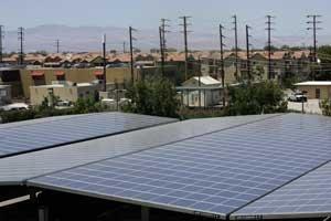 Solar panels at Lancaster City Hall.