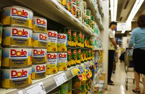 Dole canned products.