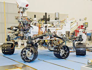 Vehicle: Jet Propulsion Laboratory engineers with Curiosity, the mobile lab that landed on Mars.
