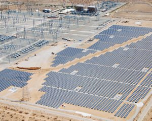 Project: SolarWorld panels in use at an installation near Adelanto in Mojave Desert.