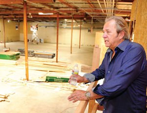 Space: Ed Phillips, president and CEO of Matthews Studio Equipment, eyes ongoing construction of company's new building.