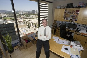 Partner Bill Barnum at Brentwood's office in West Los Angeles.