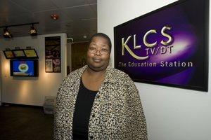 General Manager Sabrina Thomas at the offices of KLCS.