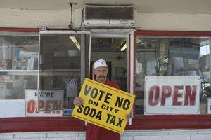 Owner Art Meier at his Art's Burgers shop in El Monte.