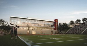 Southwestern College and Balfour Beatty Construction broke ground on a 40,000-square-foot field house that will overlook Southwestern College's DeVore Stadium in Chula Vista. Designed by Gensler Architects, the project is the first phase of a $90 million project that was funded by Proposition R.
