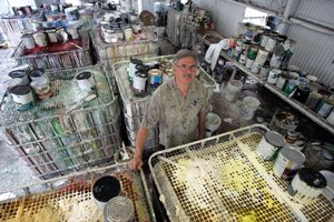 Gary Erb, co-owner of Acrylatex, at the paint-recycling company's headquarters in Azusa.