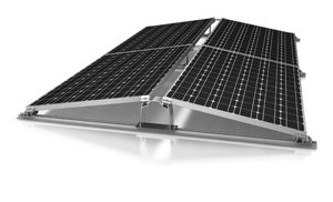 Everest Solar Systems produces the D-Dome system for installing solar panels on flat roofs.