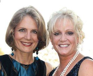 Debby Fishburn, left, and Lise Wilson were the co-chairs of the Voices for Children Gala.