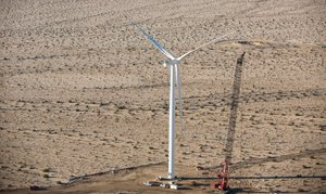 The Ocotillo Wind Project will have 112 wind turbines on some 12,500 acres of federal land 25 miles west of El Centro.