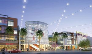 Rendering of Runway, a mall that will serve Playa Vista workers and residents.