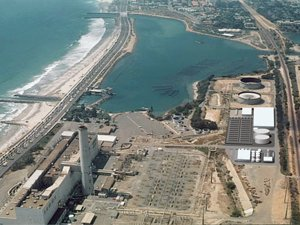 A rendering of the Carlsbad Desalination Project shows the plant that is expected to provide 50 million gallons of water per day to the region.