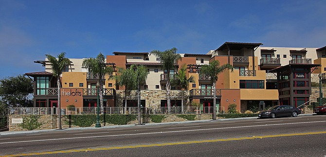 The Lofts at Moonlight Beach, a mixed-use development in Encinitas, was recently sold off as part of a receivership process.