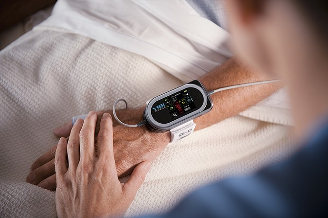 Sotera's ViSi Mobile system monitors various vital signs. It is seeking FDA approval to also use the system to monitor blood pressure as well.