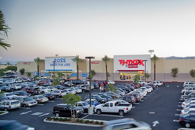 Locally based developer The Shamrock Group obtained $23.5 million in refinancing for its recently completed Plaza at the Border retail center in San Ysidro, shown here.