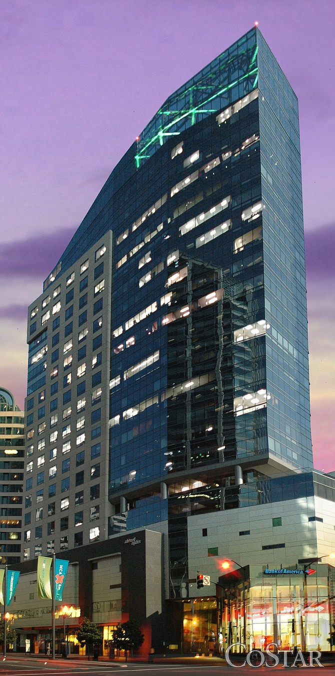 The largest local office property acquisition of the first quarter involved Advanced Equities Plaza in downtown San Diego, purchased by Dallas-based Lone Star Funds for approximately $140 million.