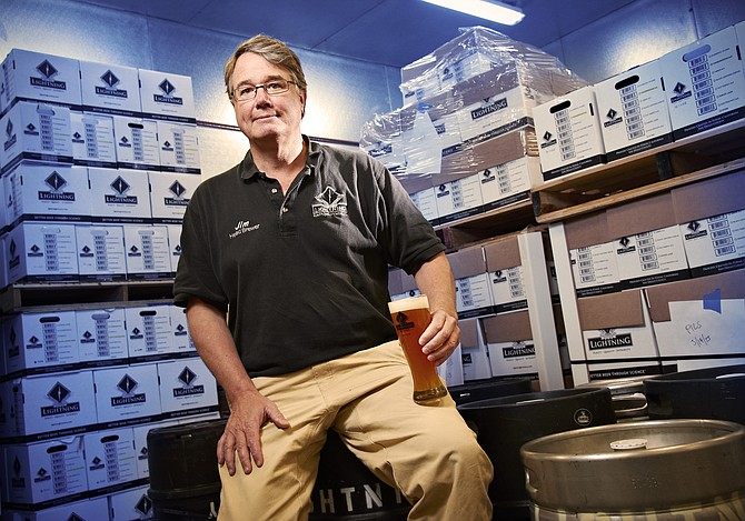 Jim Crute, president and head brewer of Lightning Brewery in Poway, says the thriving craft brewery business in San Diego County will keep growing in spite of the substantial capital investment. Crute says the key to success is to make a great beer different from everyone else's and to build a superior reputation.
