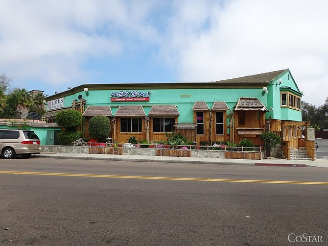 A retail building off Carlsbad Village Drive, housing two local restaurants, was recently purchased for $2 million.