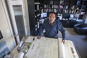 Five Chairs owner Richard Heyman, developer of Dream Hotel, at his office in Hollywood.