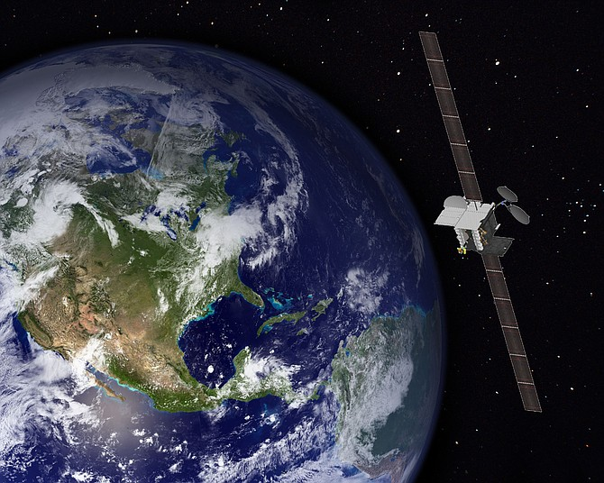 This is a rendering of the Boeing satellite that will carry ViaSat's VS-2. ViaSat said that it and Boeing have inked a strategic agreement to jointly market and sell satellite systems based on ViaSat-2 technology.