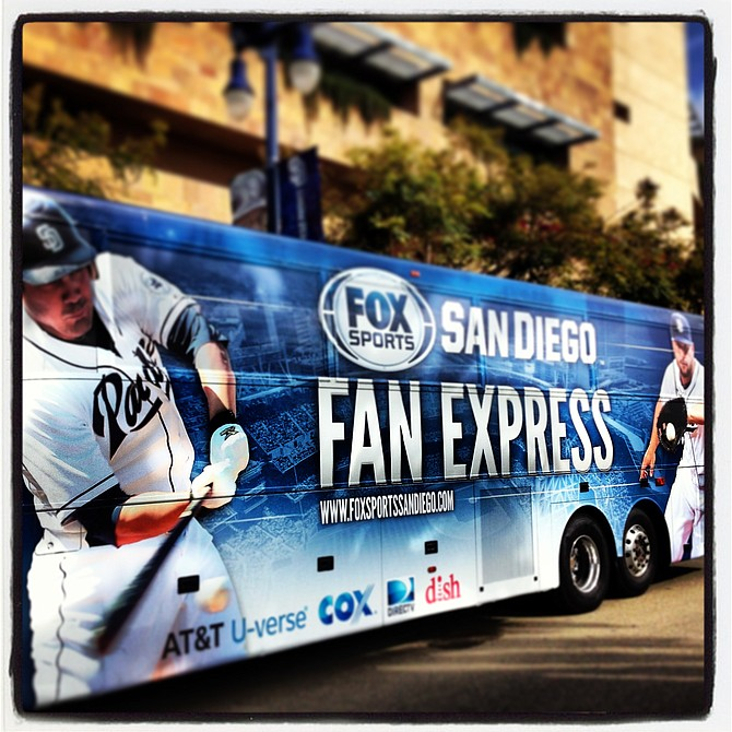 FOX Sports San Diego donated more than 500 Padres tickets to local charities. The FOX Sports San Diego Fan Express, a new 55-person motor coach branded with Padres players, will be used to transport select charities to the games.