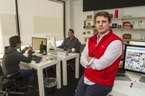 Dollar Shave Club's Michael Dubin at his Venice office last year.