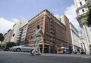 Izek Shomof's Hayward Hotel building in downtown Los Angeles.