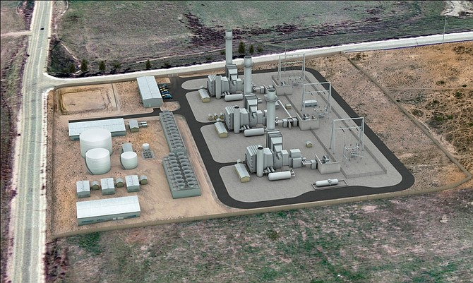 SDG&E wants to add a peaker plant to the region's energy resources. The proposed plant, shown in a rendering, would be built in Otay Mesa and provide energy during high-demand situations.