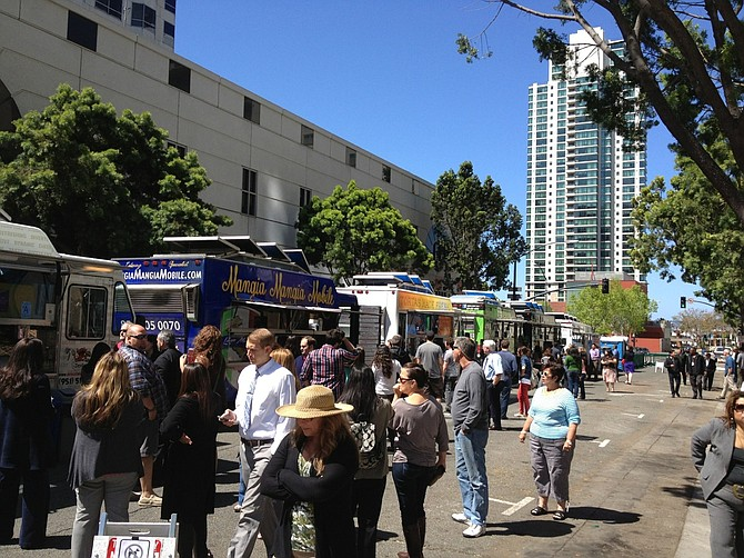 Many food trucks have evolved from street food toward high-end, gourmet quality fare. The vendors often use Curbsite Bites, a food truck booking service that helps organize several vendors in the same locale or around an event. This creates a food truck nexus where foodies can gather and sample fare from different vendors.