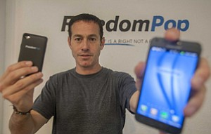 FreedomPop Chief Executive Stephan Stokols at the wireless Internet company's West L.A. headquarters.